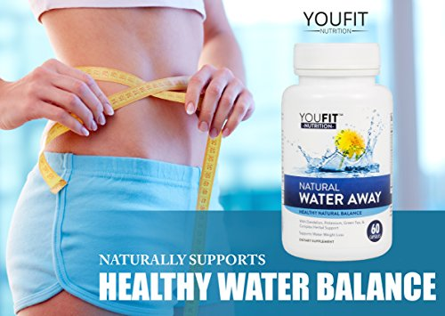 Premium Water Pills Diuretic Natural and Pure Dietary Supplement for Water Retention Relief Weight Loss Detox Cleanse for Men & Women with vitamin B 6 Potassium Chloride Dandelion Apple Cider Vinegar