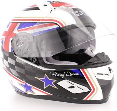 BKS 8 SERIES FLAG MOTORCYCLE HELMET MOTORBIKE J/&S MEDIUM M 58 CMS, UK