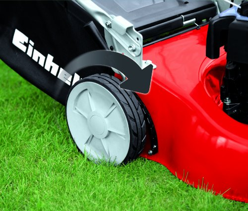 Einhell 3404585 GC-PM 46/1 S B&S Self Propelled Petrol Lawnmower with a Briggs and Stratton Engine, 1650 W, 5 V, Red, Large