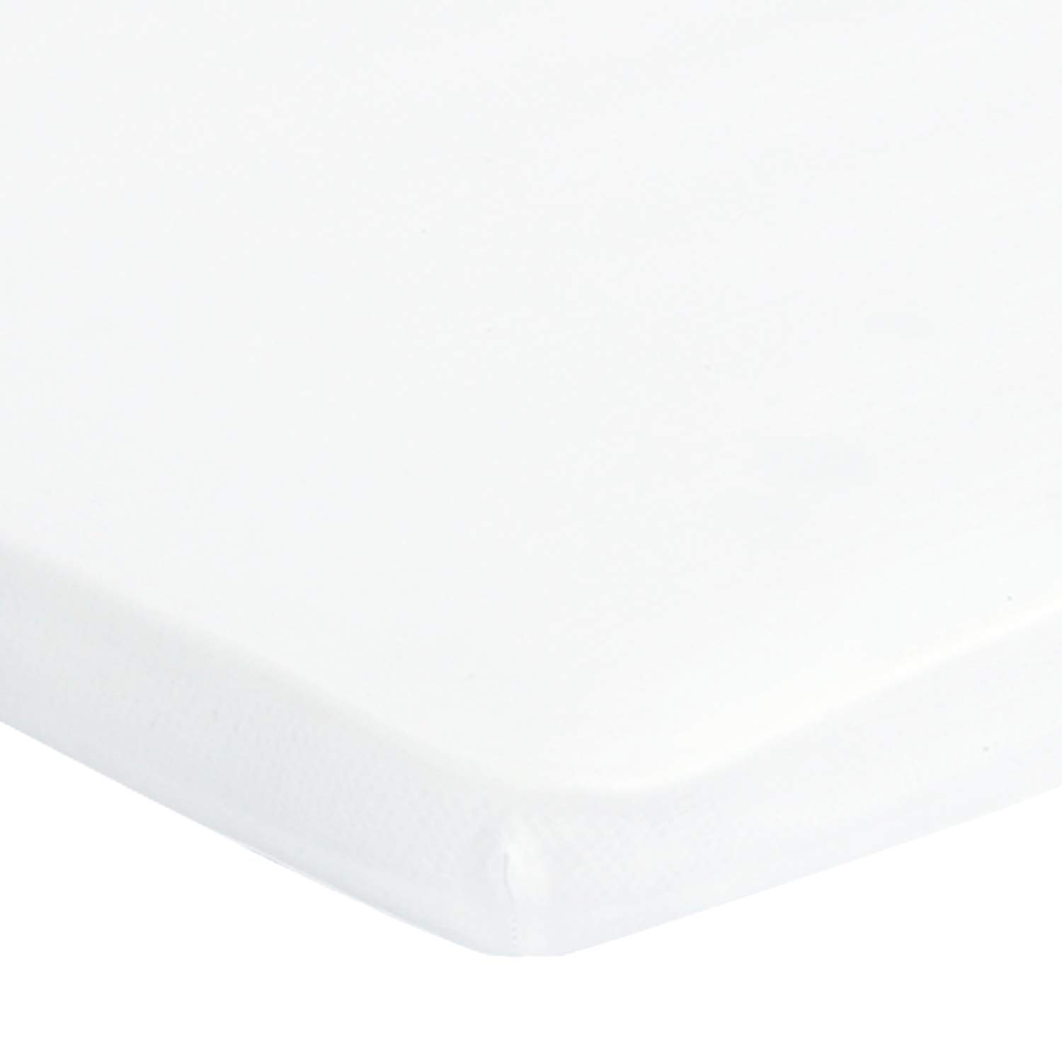 """Designthology 100% Natural Cotton Muslin Pack N Play Sheet Fitted, Portable Mini Crib Sheet for Baby Boy & Girl, Ultra-Soft Breathable Playard Playpen Sheet, Unisex White (24"""" X 38"""" X 5"""")"""