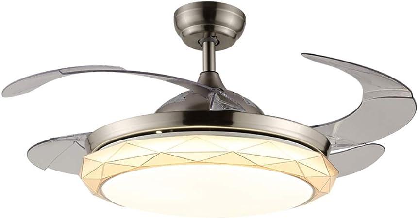 Ventilateur de plafond à la mode créative LED, salon salle à