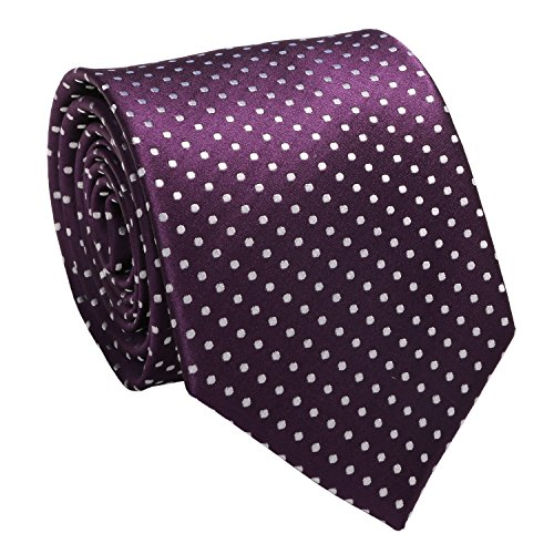 Mens Polka Various Tie Hanky Dots Cufflinks Silk Set Purple Landisun Tie tPZwqpp