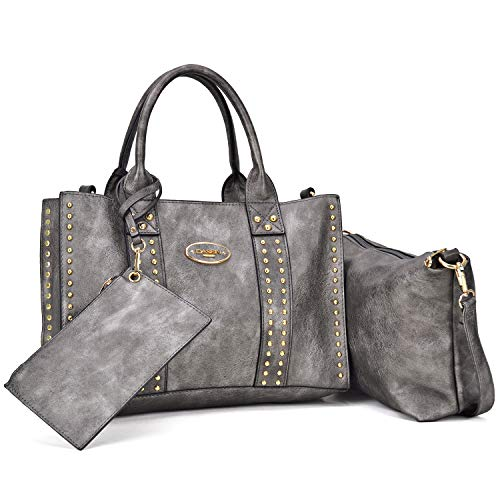 (Dasein Designer Tote Purse Satchel Handbag Faux Leather Shoulder Bag Top Handle Bag)