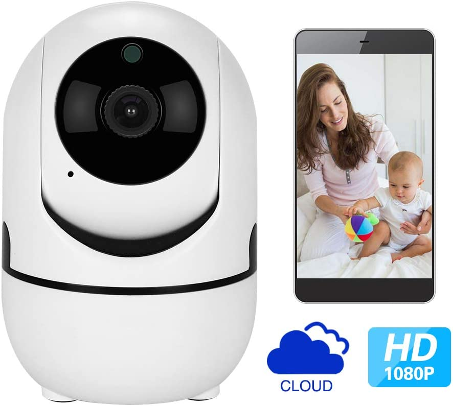 1080p HD IP Camera with Motion Tracker 2-Way Audio Night Vision APP Remote Control, 2.4Ghz WiFi Indoor Home Security Dome Camera for Baby Monitor Elder Pet Dog Nanny Smart Camera