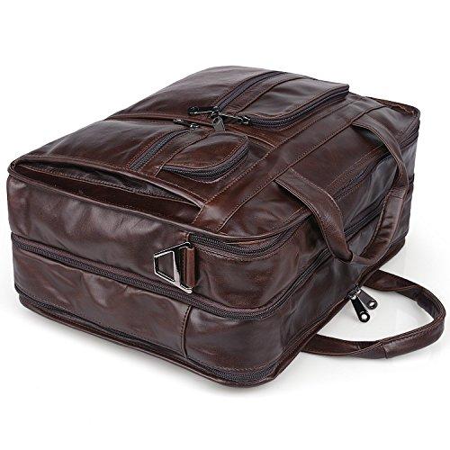094fe8f0e Jack&ChrisMen's Leather Briefcase Laptop Bag Messenger Shoulder Bag,NM7234 …