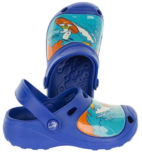 Beppi Clogs Schuhe für Kinder   Kinderschuhe Snoopy Motiv   Strandschuhe Badeschuhe Bequem   Gartenschuhe für Mädchen   23-28 Blau