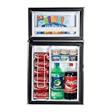 Haier HNDE03VS 3.3-Cubic Foot 2 Door Refrigerator/Freezer, Black Cabinet VCM Door