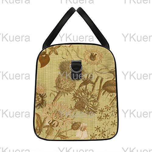 ブルーミンラブリーリネンラックスピーコケット1 旅行バッグナイロンハンドバッグ大容量軽量多機能荷物ポーチフィットネスバッグユニセックス旅行ビジネス通勤旅行スーツケースポーチ収納バッグ