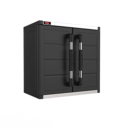 Amazon.com: Keter XL Pro Wall Hanging Mounted Durable Resin Plastic Utility  Cabinet With Adjustable Shelving, Black: Home U0026 Kitchen