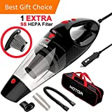 HOTOR Corded Car Vacuum, Portable Auto Vacuum Cleaner Powered by...