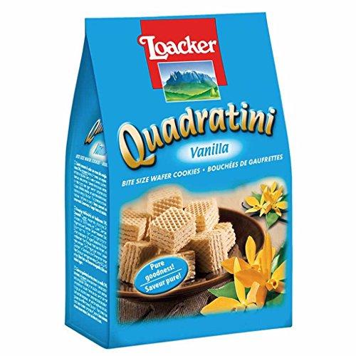 2 pack - Quadratini / Loacker Vanilla Wafer Cookies, 8.82 oz per - Italian Milk Vanilla