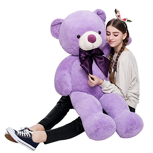 MorisMos Giant Cute Soft Toys Teddy Bear for Girlfriend Kids Teddy Bear (Purple, 47 Inch)