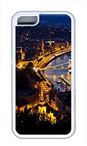 iPhone 5C Case and Cover -European City Night 01 TPU Silicone Rubber Case Cover for iPhone 5C ¨CWhite