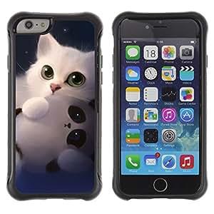 BullDog Case@ Panda Cute Kitten White Sweet Rugged Hybrid Armor Slim Protection Case Cover Shell For iPhone 6 Plus CASE Cover ,iphone 6 5.5 case,iPhone 6 Plus cover ,Cases for iPhone 6 Plus 5.5