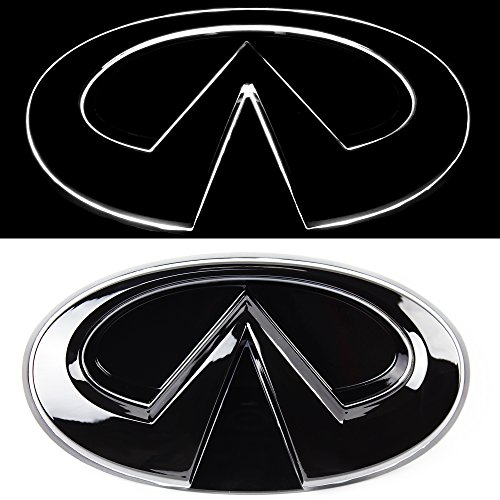 JetStyle Infiniti Q50 LED Emblem, Black Edition, Front Car Grill Badge, Auto Illuminated Logo, Glowing, Lights DRL Daytime Running Lights White - Drive Brighter …