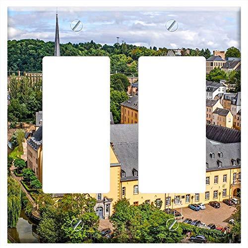 Switch Plate Double Rocker/GFCI - Luxembourg City Landscape Cityscape Ville Basse