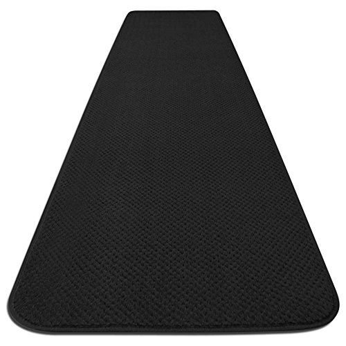 Skid-resistant Carpet Runner - Black - 14 Ft. X 27 In. - Many Other Sizes to Choose From by House, Home and More