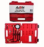 ABN Fuel Injection Pressure Test Kit - Comprehensive Universal Set with Improved Flex Hoses, Fittings, and Instructions