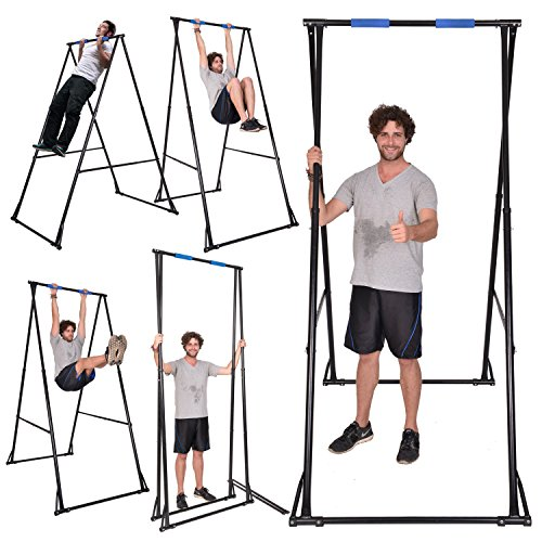 eedd0c76e53 KT KHANH TRINH Free Standing Pull Up Bar Indoor Outdoor KT1.1520 Foldable  Portable Adjustable Pullup tower for Home Gym   Perfect back stretcher for  ...