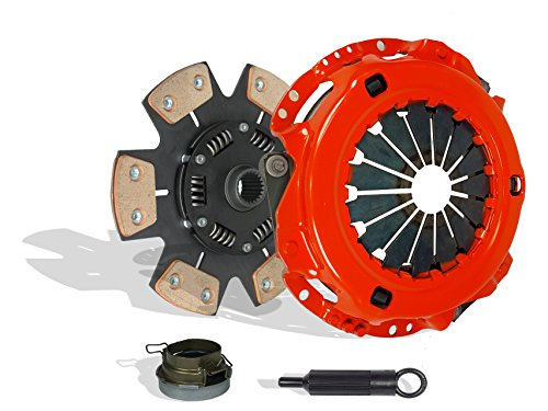 Clutch Kit Works With Toyota Previa Tacoma DX LE Mini Passenger Van DLX Standard Extended Cab Pickup 1991-2004 2.4L l4 GAS DOHC Naturally Aspirated (6-Puck Disc Stage 3; Vin A 2Tzfe; 2Wd; 4Wd) ()