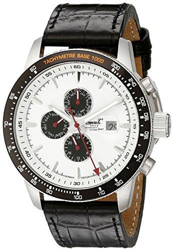 Ingersoll Men's 1219WH Presidios Black/White Stainless Steel Watch