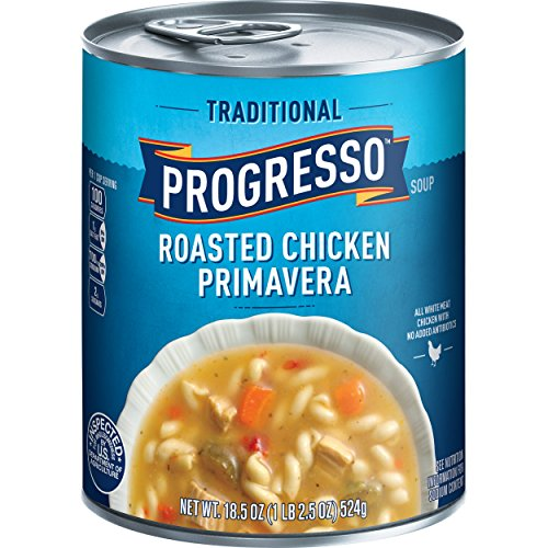 Progresso Soup, Traditional, Roasted Chicken Primavera Soup, 18.5 oz Cans (Pack of 6) ()