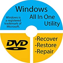 Windows 7 Home Premium 32-bit Reinstall Reinstallation Re install Recovery Restore Fix Boot Disk Disc CD - For All Make/Model PCs including HP, Lenovo, Dell, Toshiba, Sony, ASUS