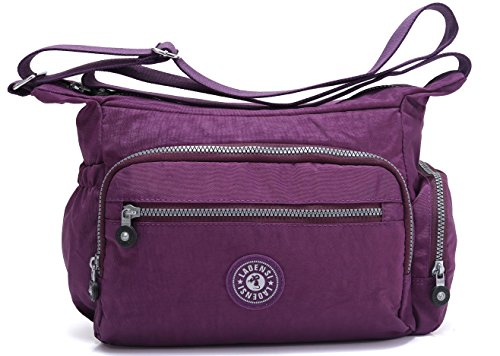 Pocket Purple Travel Unisex Purse Nylon Shoulder Model Travel Bag Multi Resistant KL1144 Bag Water BEKILOLE Crossbody IZX1Zx