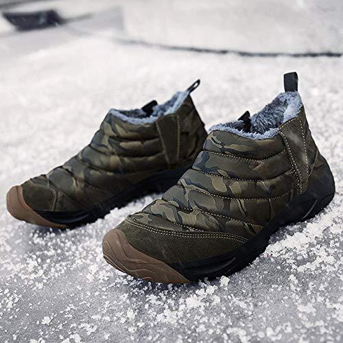 Femme Imperméable Hiver Snow De Homme Bottes Jianye Neige Boots verte Armée 8XTIqw0x