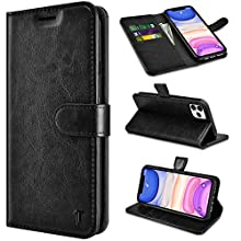 Tiflook Wallet Case for iPhone 11 Pro Max 6.5〞, for iPhone 11 Pro Max Case,PU Leather Flip Folio [Kickstand][RFID Blocking][Magnetic Closure][Card Slots] Bumper Shock-Absorption Phone Cover,Black