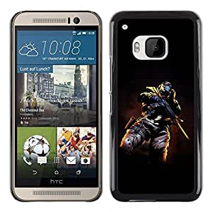 Impact Case Cover with Art Pattern Designs FOR HTC One M9 Skull Masked Terrorist Betty shop