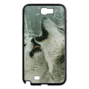 Gray Wolf Phone Case For Samsung Galaxy Note 2 N7100 [Pattern-1] by icecream design