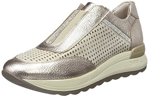 24 HORAS 23585, Slip-On Sneaker Donna Oro (Champan 3)