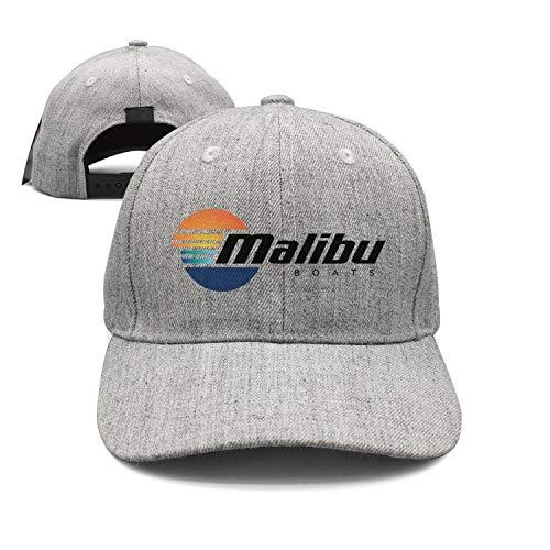 Malibu Hat - Fashion Cap Adjustable Malibu-Boats-Vector-Logo-Simple-Black- Grey Classic Trucker Caps