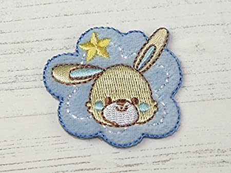Baby bunny embroidered iron on motif applique blue each amazon