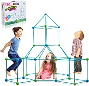 Obuby Kids Construction Fort Building Kit 120 Pieces Ultimate Forts Builder Gift Build Making Kits Toys for Bo