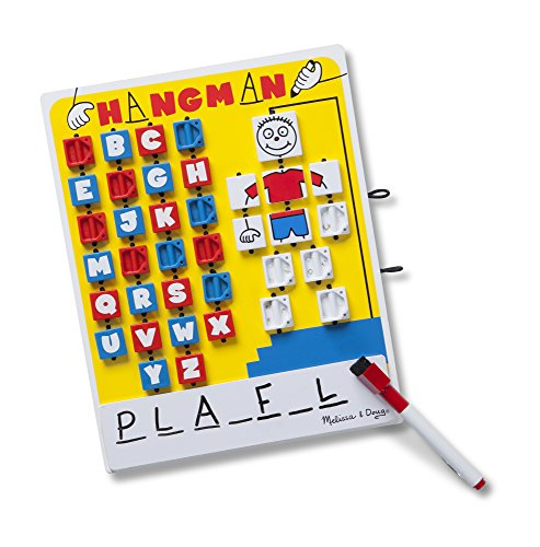 Melissa & Doug Flip to Win Travel Hangman Game - White Board, Dry-Erase Marker from Melissa & Doug