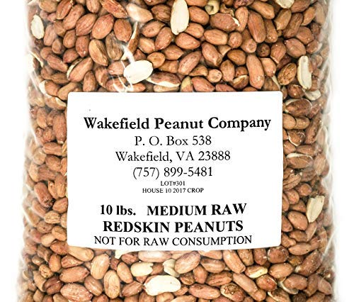 Virginia Peanuts Premium Grade Raw Red Skin Animal Peanuts for Squirrels, Birds, Deer, Pigs and a Wide Variety of Wildlife/Bulk Nuts/Blue Jays/Cardinals/Woodpeckers/Parrots/Doves (50 lbs)