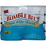 BUMBLE BEE Chunk White Albacore Tuna in Water, Canned Tuna Fish, High Protein Food, 5 oz, 48 Cans