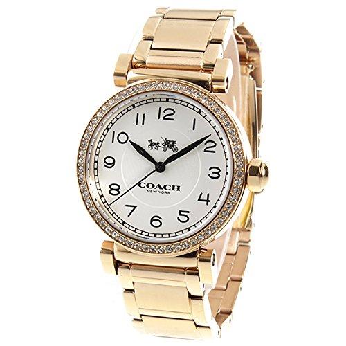 8884da487687 Amazon   コーチ COACH マディソン クオーツ レディース 腕時計 14502398 ピンクゴールド   レディース腕時計   腕時計 通販