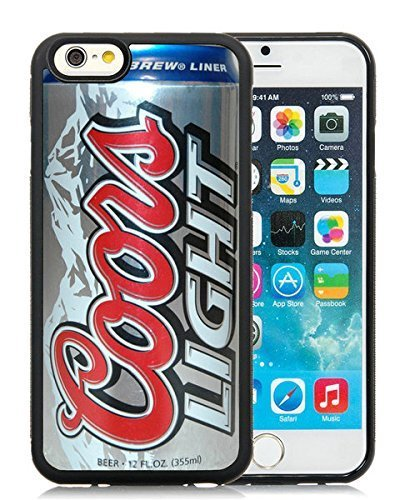 IPhone 6 Case,Coors Light Beer Can Black Case For IPhone 6S 4.7 Inches,