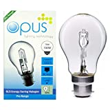 10 x Opus 70w = 100w GLS BC B22 Bayonet Cap Long Life Clear Eco Halogen Light Bulbs Dimmable Energy Saving Lamps Pack