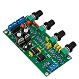 AOSHIKE LM1036N + NE5532 Dual Channels Preamplifier Board Tone Adjust Amplifier for HIFI Steroe Audio System
