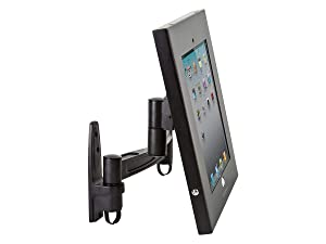 Monoprice Safe and Secure Wall Mount Display Stand for 9.7-Inch iPad - Black (110307)