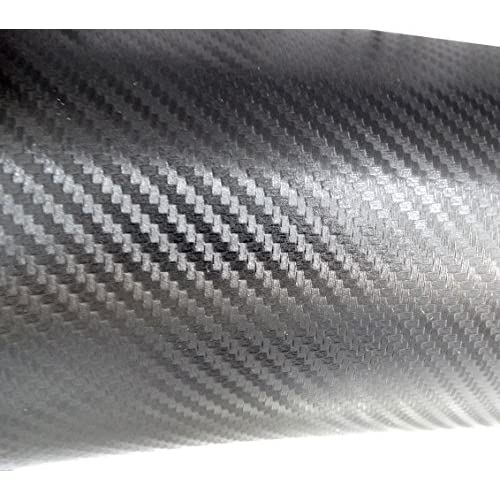 Aerzetix: 127/50cm film adhésif vinyle fibre de carbon gris foncé thermoformable C17197