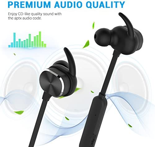 MixcMax Sport Earphones Wireless Bluetooth Headphones Sweat-proof Bluetooth Earbuds Bluetooth 4.1 Noise Canceling Headset Magnetic In Ear Earbuds for Gym Running Workout