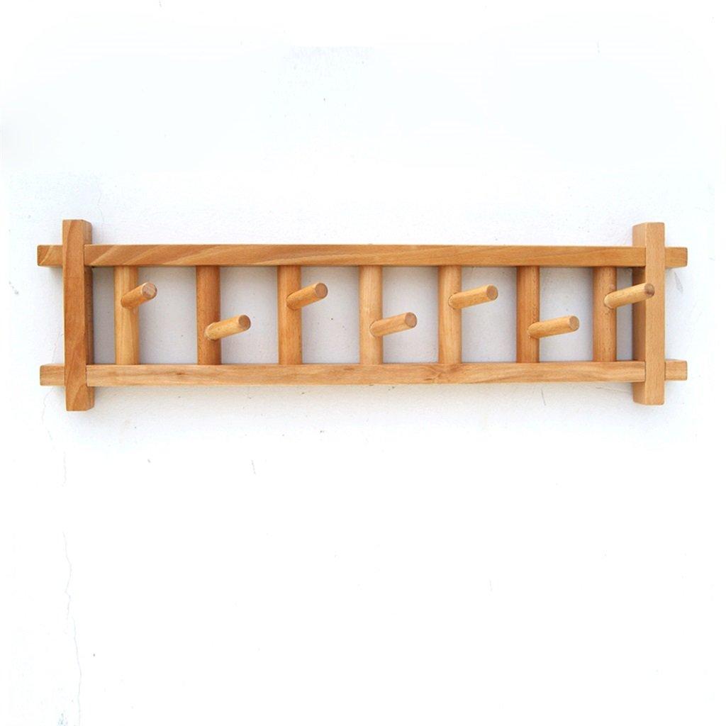 Perchero Soportes de Madera Maciza Racks Simple Pared colgadores Dormitorio Beech Hook Up Europea Creative Percha,Gancho de Ropa
