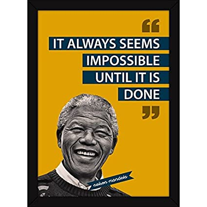 Fatmug Inspirational Quotes Nelson Mandela Motivational Synthetic