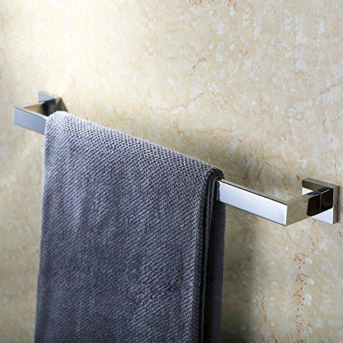 Kes SUS304 Stainless Steel Single Towel Bar Wall Mount, Poli