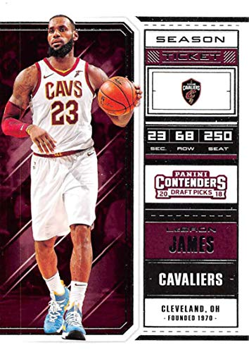 - 2018-19 Panini Contenders Draft Picks Basketball Season Ticket #41 LeBron James Cleveland Cavaliers Official NBA Trading Card